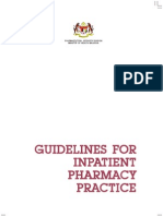 Guidelines for Inpatient Pharmacy Practice