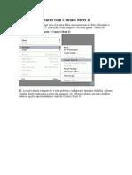 Folha de Miniaturas Com Contact Sheet II