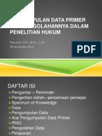 Pengumpulan Data Primer