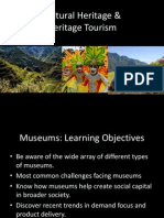 Cultural Heritage & Heritage Tourism