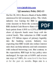 Overview of Q2 Monetary Policy 2012 Final