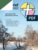 Pfarrbrief Weihnachten 2012 / Jahreswechsel / Winter