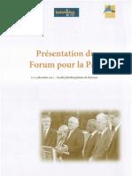 Presentation Forum Pour La Paix de Bayonne