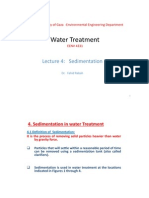 Water Treatment Lecture 4 EENV