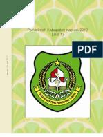 Pemerintah Kabupaten Kapuas 2012 (Jilid 1)