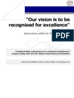 Our vision is to be recognised for excellence