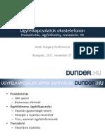 Ügyfélkapcsolatok okostelefonon - Dunder Krisztián előadása a Mobil Hungary konferencián