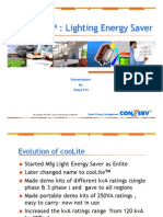 CooLite - Lighting Energy Saver- Vinod P H