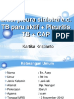 TB Paru + Efusi Pleura + CAP + Pleuritis TB