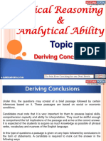 Logical Reasoning and Analytical Ability Deriving Conclusions