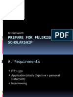How to Preapre for Fulbright Scholarship