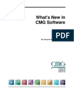 New Features in CMG 2012 Software