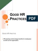 Good HR Practices