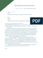 Surat Perjanjian Pengikatan Untuk Jual Beli Saham