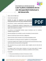manifiesto por la plena ciudadanía de las personas con discapacidad intelectual
