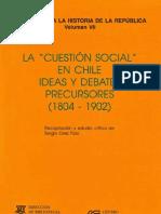 """La """"Cuestión social"""" en Chile."""
