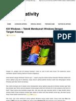 Kill Windows __ Teknik Membunuh Windows Dengan Tangan Kosong