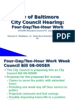 Four Day/Ten-Hour Work Week - City Council Bill 08-0058R
