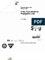 A Ray Trace Model for Propagation Loss ~ Technical Report 1576 (RDT&E) by C. P. Hattan, 02-1993.