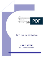 Akrilates No.1 for Chamber Ensemble - Full Score