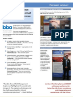 Post-Event Summary BBA Annual Risk Management Conference 2012