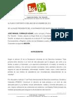 Mocion nº 24 BOLSA VIVIENDAS APROBADA EN PLENO 30-11-12