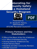 Collaborating for Community Safety With a Homeland Security Program