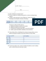 Exercício de revisão para av2 Bio Estatistica