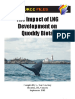 LNG Impacts on Quoddy Biota