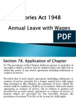 Annual Leave With Wages