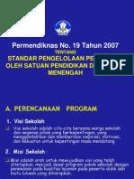 Permendiknas No. 19 Tahun 2007