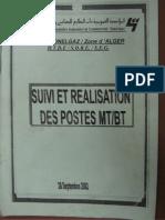 Suivi et Réalisation des postes MT-BT (sonelgaz 2002)