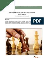 Importance of Strategic Management.