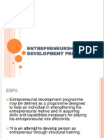 Entrepreneurship Development Programs 2003