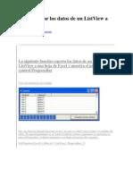Exportar a Excel Vb6