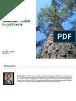 GMO Domestic Timber