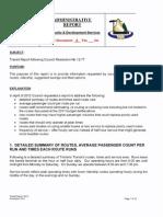 Timmins Transit Route Savings Report