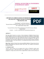 A Review on Current Source Inverter Fed Ac Drives and Multilevel Current Source