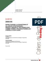 Entre Fusions Et Acquisitions Et Alliances Stratégiques 2005-05