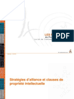 Strat d'Alliance Et Clauses de Propr Intellectuelle