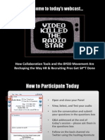 Video Killed the Radio Star - How Collaboration Tools and the BYOD Movement Are Reshaping the Way HR & Recruiting Pros Get Stuff Done - Final