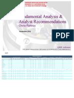 Fundamental Analysis & Analyst Recommendations - China Railway.