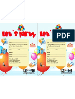Party Invitation The Zone HCT