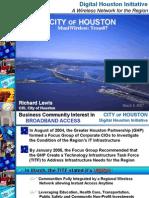 Richard Lewis, city of Houston, TX CIO on EarthLink-Houston agreement