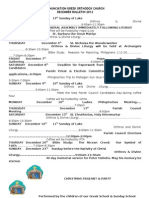 Annunciation Monthly Bulletin December 2012