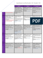 Week 16 Lesson Plans