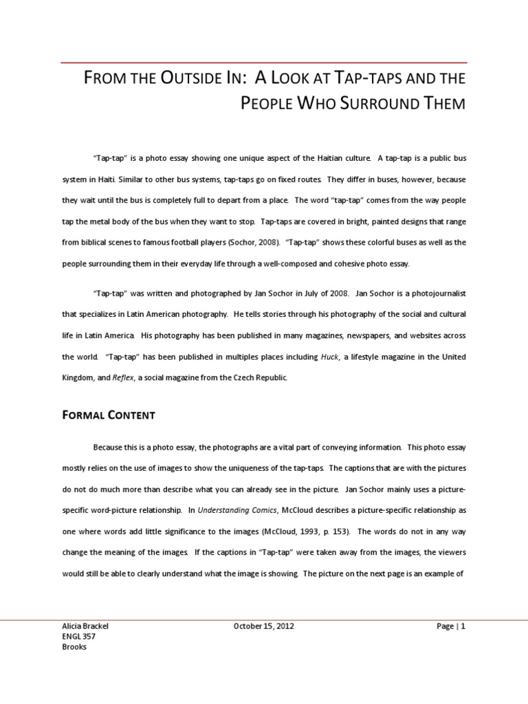 Thesis Statement Essays Brackelphoto Essay Analysis  Composition Visual Arts  Psychology   Cognitive Science Thesis Example For Compare And Contrast Essay also Extended Essay Topics English Brackelphoto Essay Analysis  Composition Visual Arts  Essay About Good Health