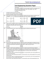GATE_Civil Engineering Question Paper_2011