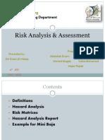Risk Analysis & Assessment