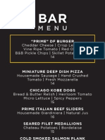 DF Chicago Bar Food Menu 110712
